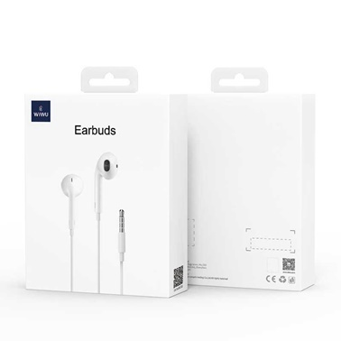 Wiwu Earbuds 101 3.5mm Jak Apple iPhone Stereo Kulaklık Beyaz
